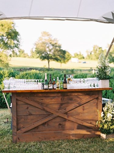 Custom Cocktail Hour at a Gorgeous Summer Wedding!