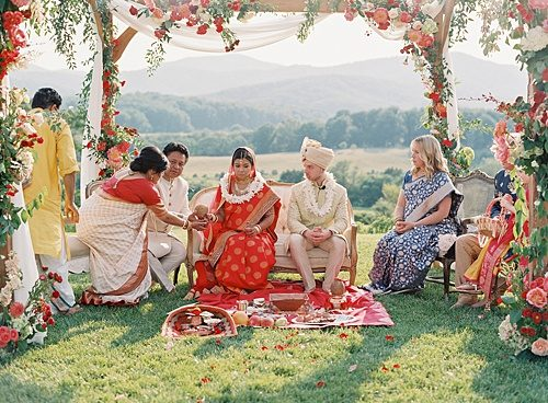 Colorful, Traditional Indian Wedding at Pippin Hill