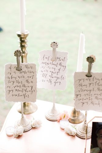 Classic, Calligraphy-filled Wedding at Historic Pole Green Church!