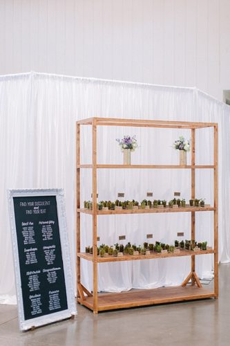 Creative Shelving for Guest Surprises - Jordan & Daniel's Hope Church Wedding!