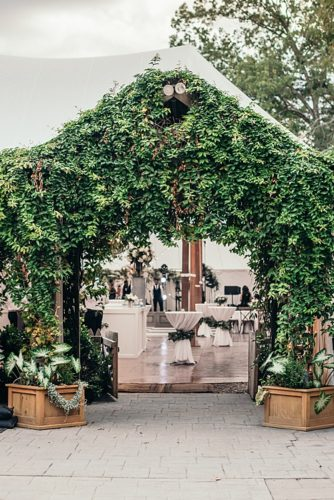 Neutral Lounge Love & Floral Bar Facade at this Clifton Inn Wedding