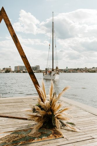 Colorful, Eclectic Affair on the Water