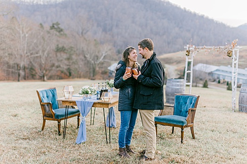 Surprise!: #pandjpretties set the stage for a surpise proposal!
