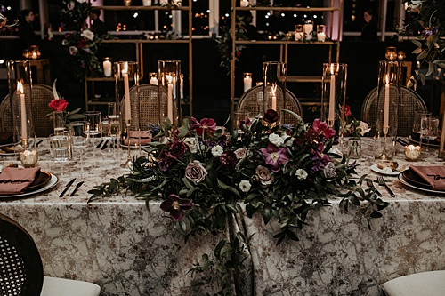 A Moody, Romantic Wedding at the Science Museum of Virginia With Glint Events