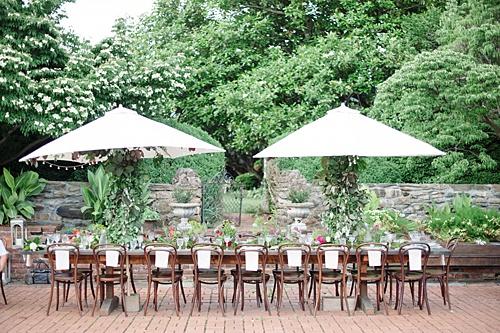 Intimate Pharsalia Outdoor Wedding