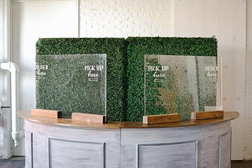 bar shields and plexiglass