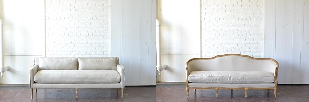 linden sofa: linden curved back sofa