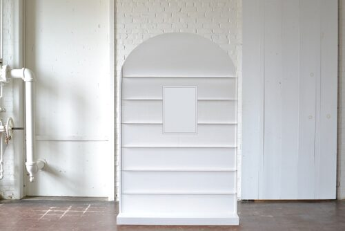 arched display wall