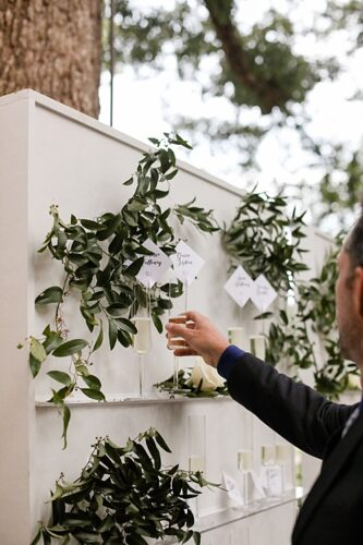 white & acrylic display wall